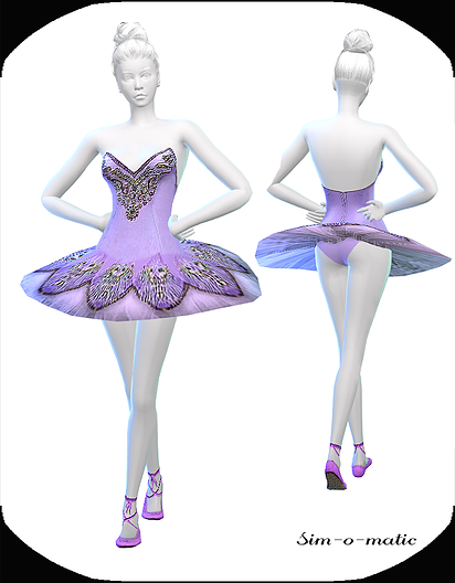 Dance Dress Violett by Sim-o-Matic
