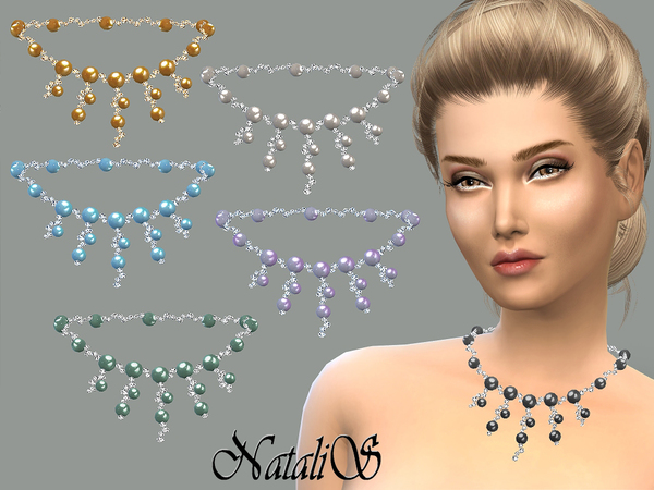 NataliS_Cascade of crystal and pearl necklace