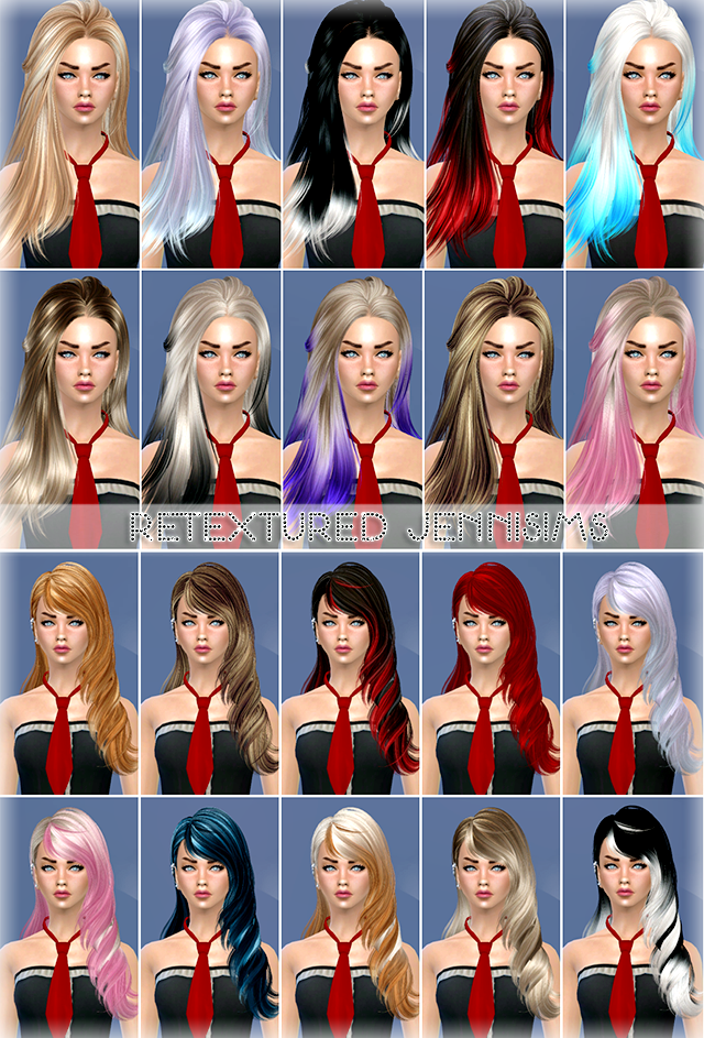Sets of Hairs SkySims retextured от Jenni Sims