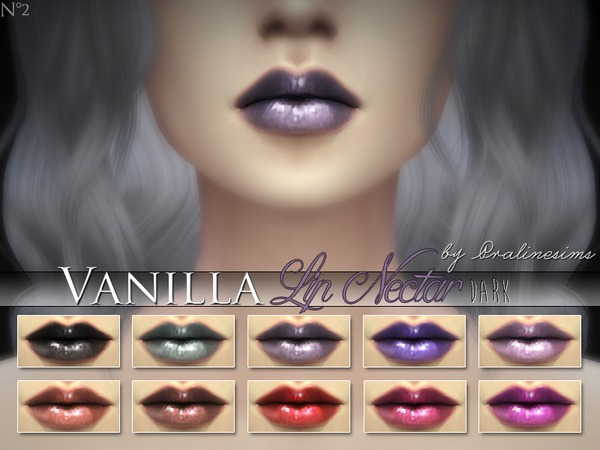 Vanilla Lip Nectar (10 Dark Colors) by Pralinesims