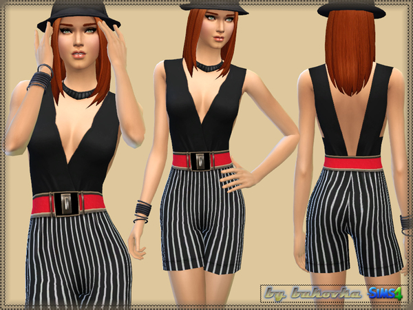 Stripe Jumpsuit by bukovka
