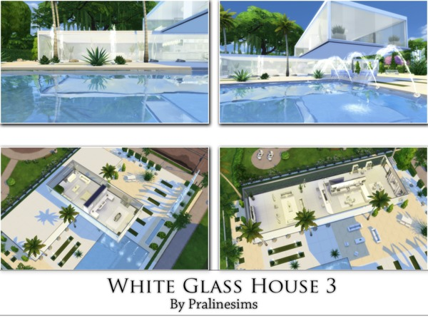 White Glass House 3 by Pralinesims