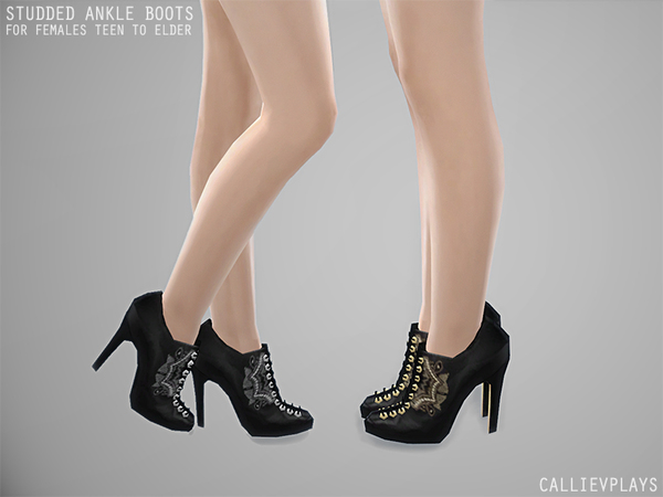 Studded Ankle Boots by Callie V