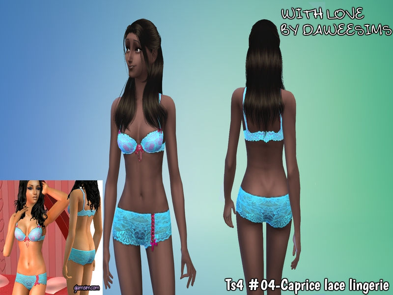 Ts4 #04-Caprice lace lingerie by Daweesims
