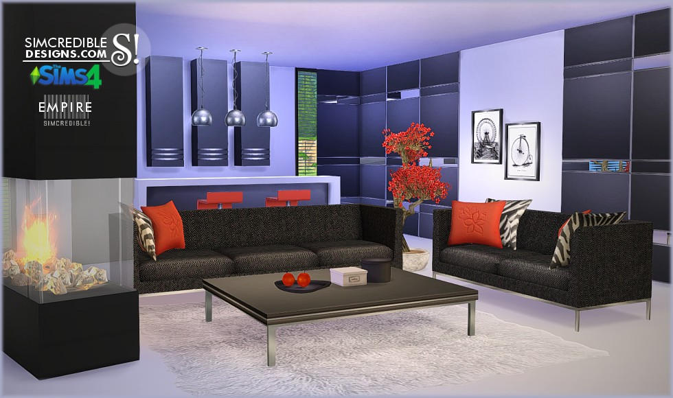 Empire Living Set by Simcredible Designs