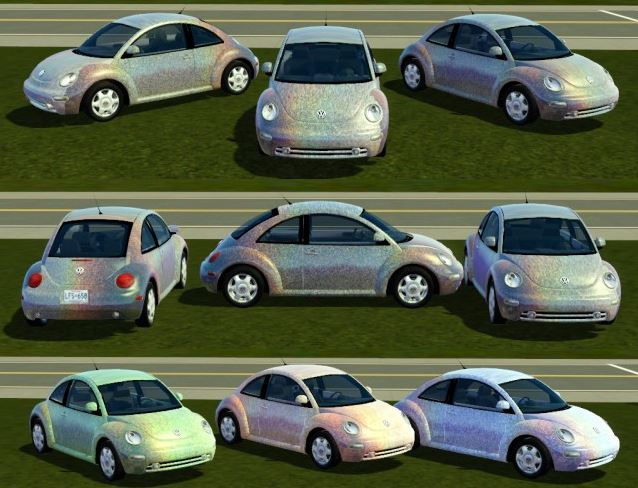Fresh Princes 2003 Volkswagen Beetle Holographicd by electraheartsims