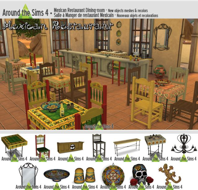 Mexican Restaurant Set by Sandy