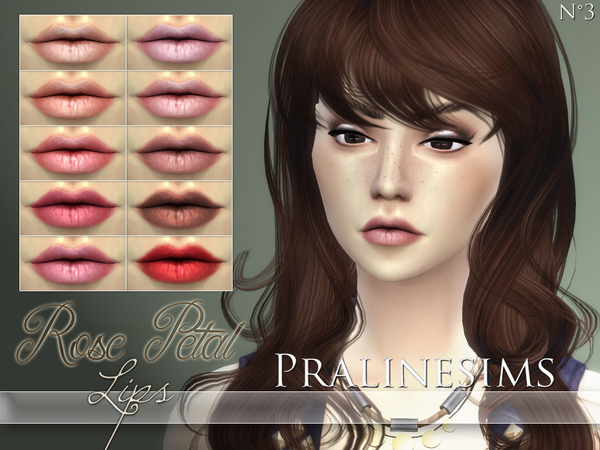 Rose Petal Lips by Pralinesims