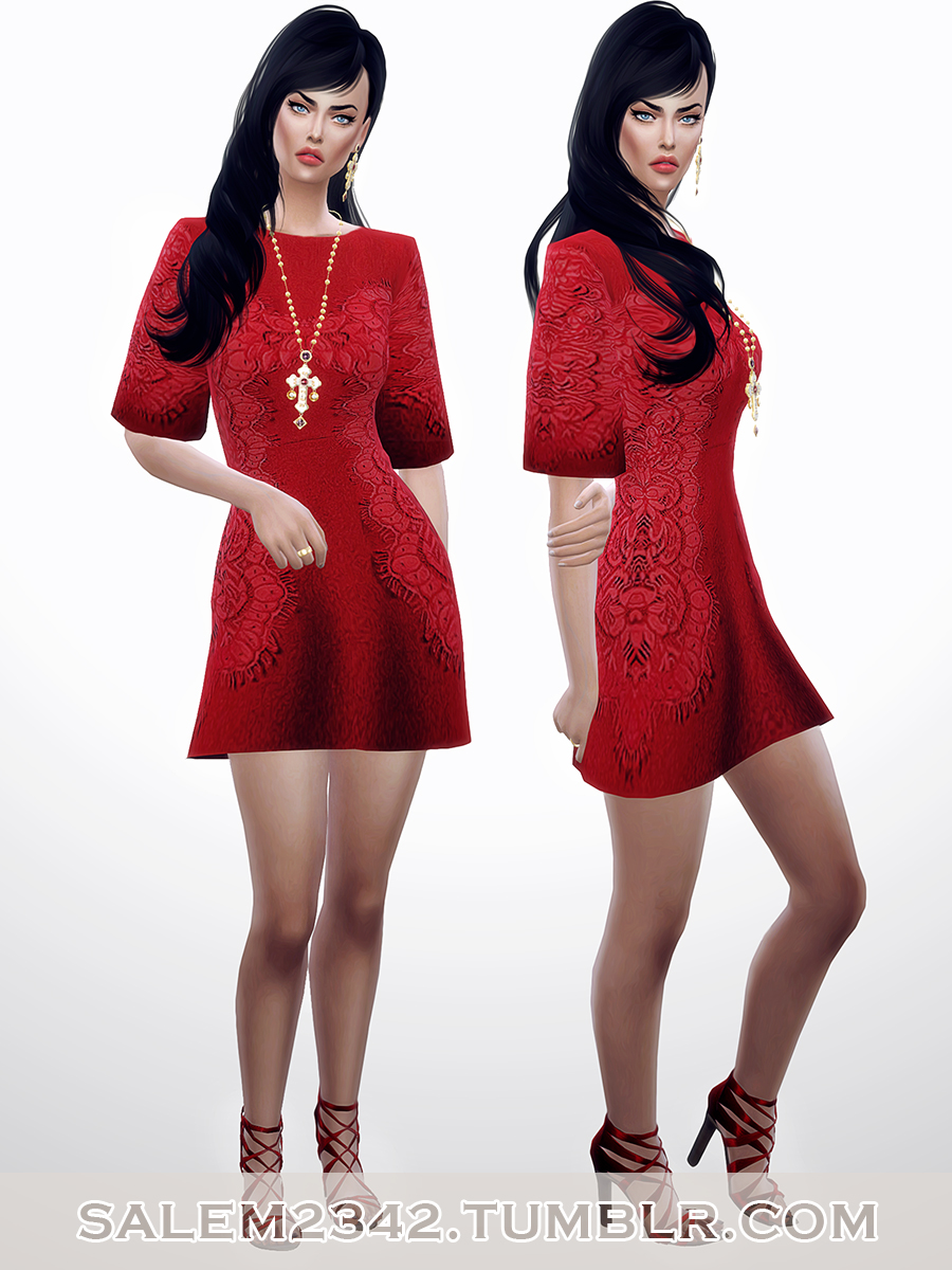 D&G Embroidered red lace dress by Salem2342