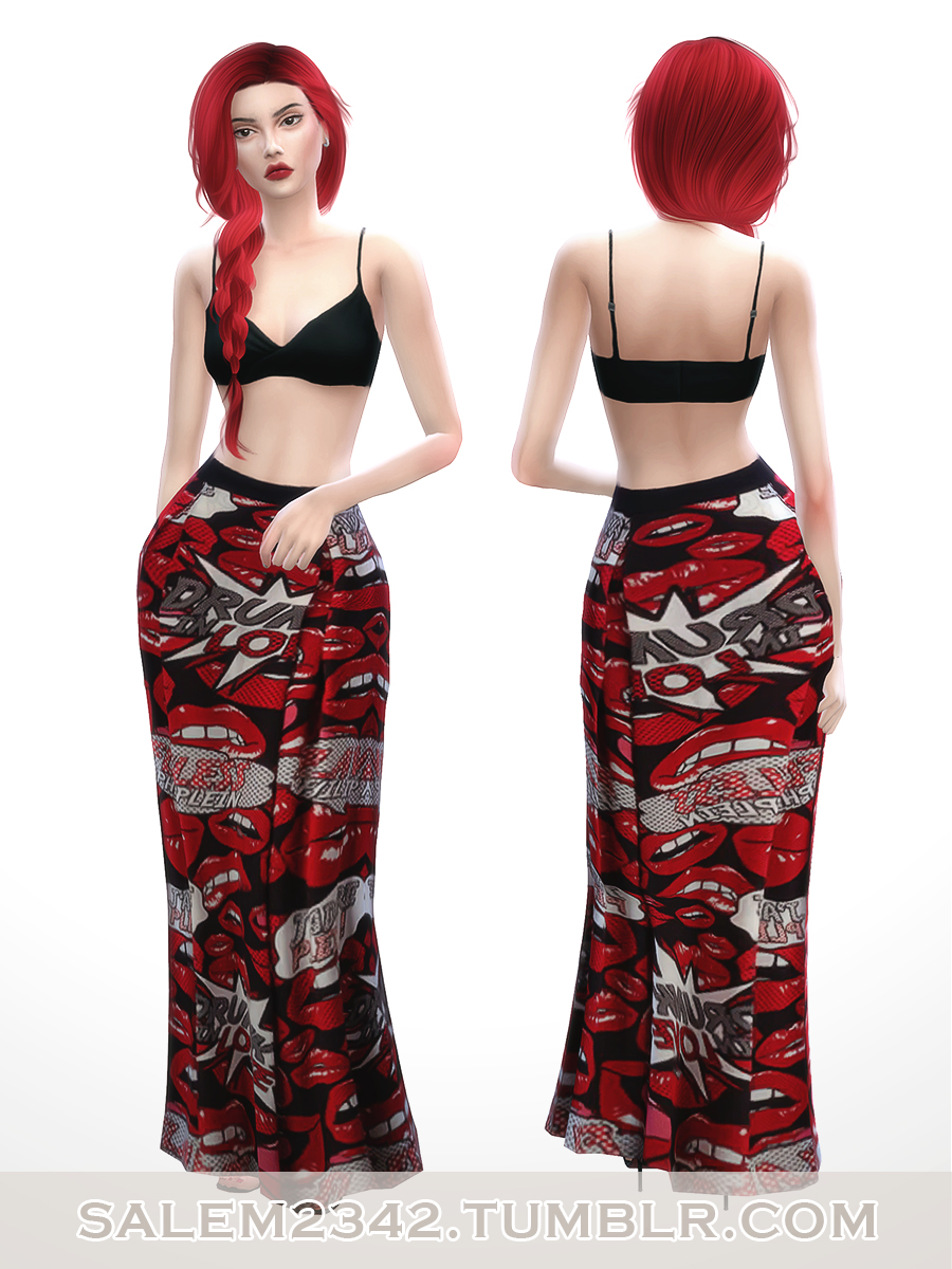 Sweetheart Skirt and Top by Salem2342