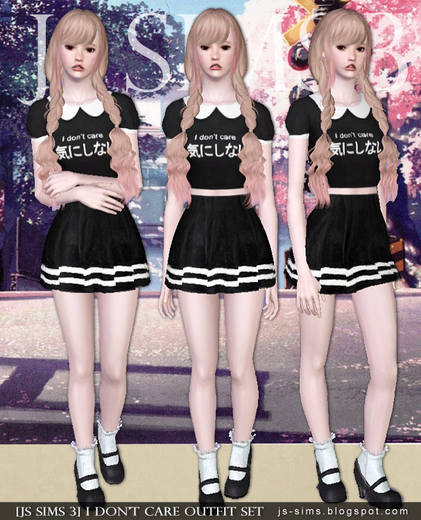 I Don't Care Outfit Set от JS SIMS