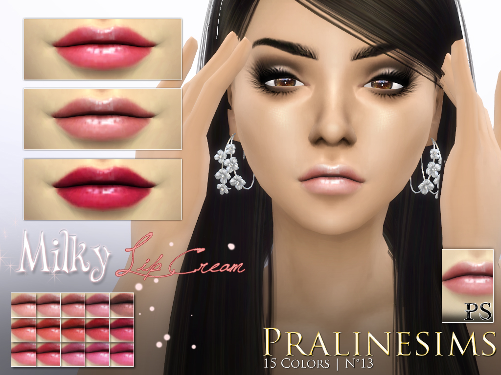 Milky Lip Cream Set WITH AND WITHOUT TEETH by Pralinesims