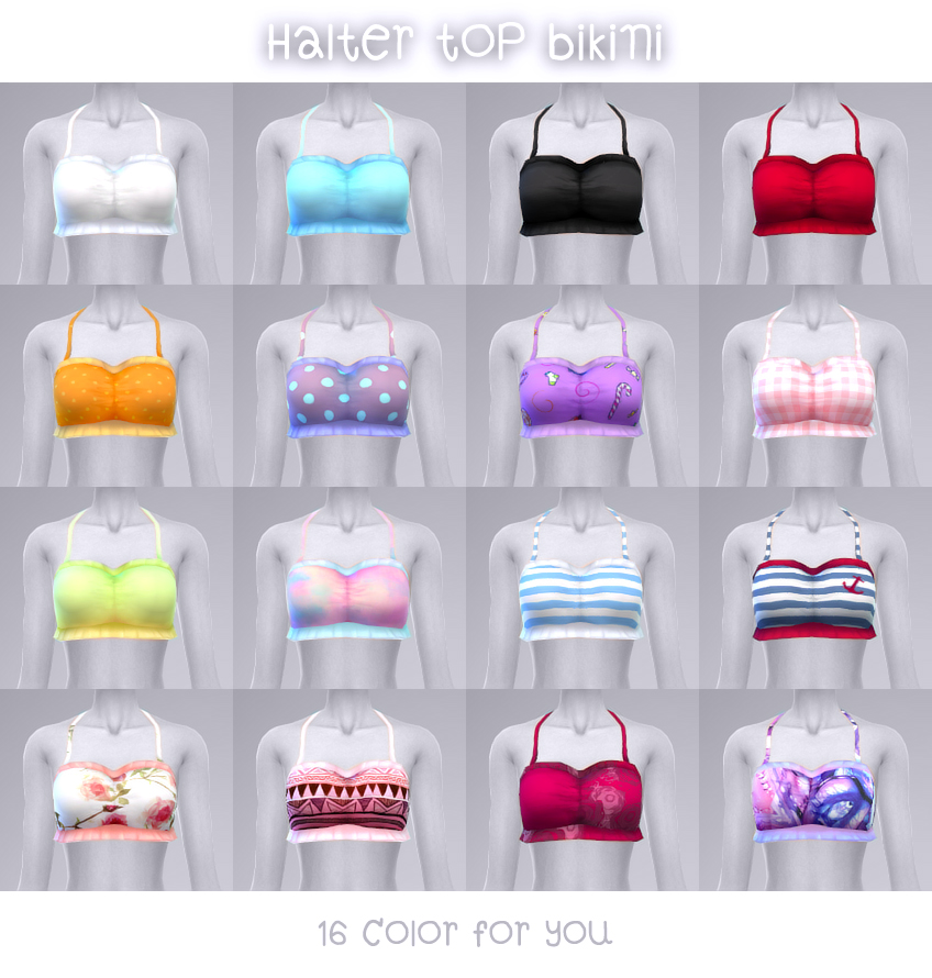 Halter Tops by Manueapinny