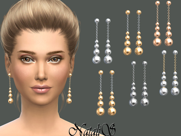 NataliS_Shine metal beads drop earrings