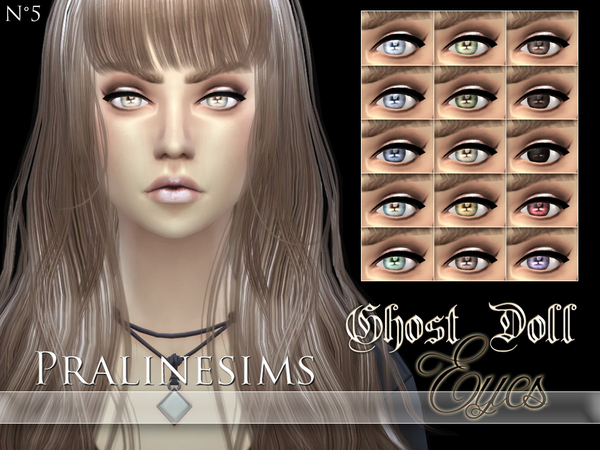 Ghost Doll Eyes by Pralinesims
