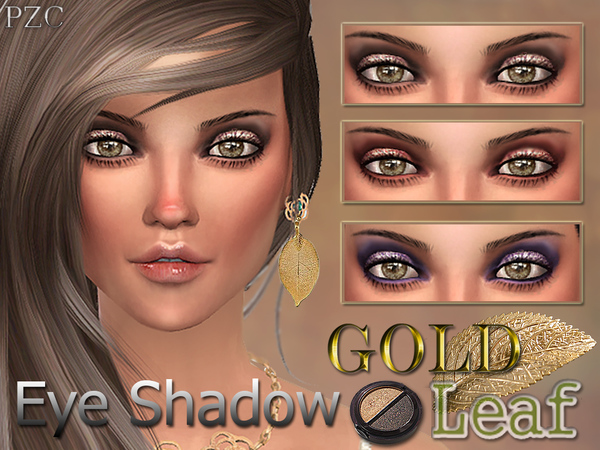 Gold leaf eye shadow by Pinkzombiecupcakes