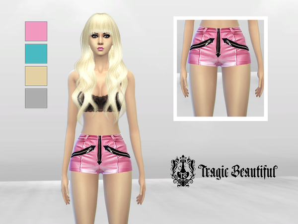 Roller Derby Zipper Shorts by McLayneSims