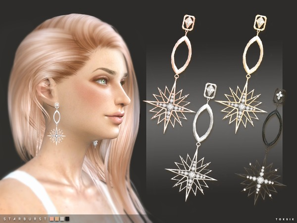 oksik - Starburst Earrings by toksik