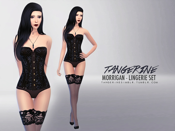 Morrigan - Lingerie Set by tangerinesimblr
