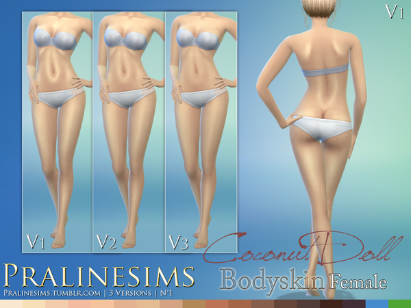 Coconut Doll Bodyskin (3 Versions) by Pralinesims