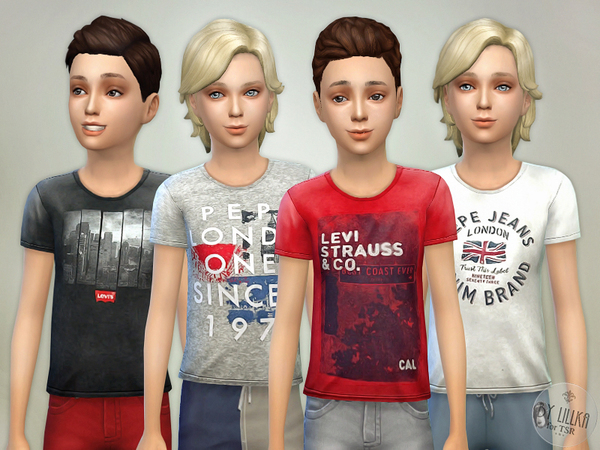 T- Shirt Collection for Boys P03 by lillka
