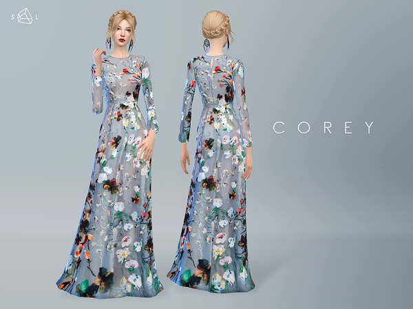 Floral Gown COREY by starlord