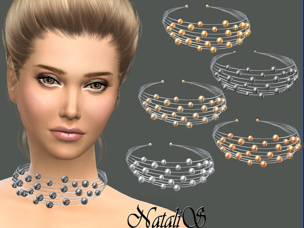 NataliS_Multilayer metal wire necklace