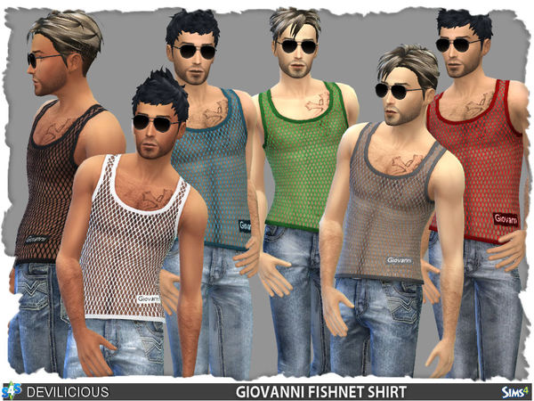 Giovanni Fishnet Shirt (7 colors) by Devilicious