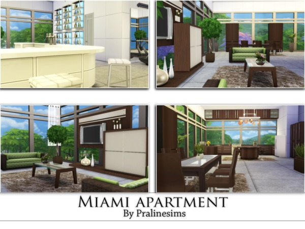 Miami Apartment by Pralinesims