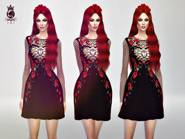 Red Roses Dress (D&G) by FashionRoyaltySims