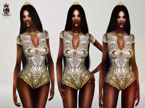 Beyonce Glitter Bodysuit by FashionRoyaltySims