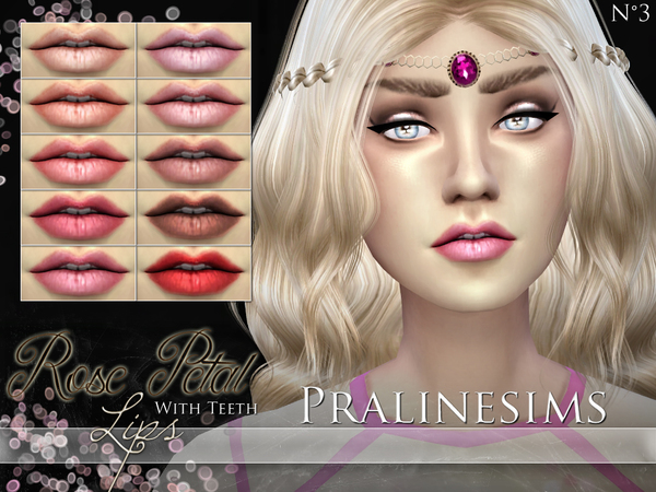Rose Petal Lips WITH TEETH by Pralinesims