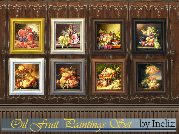 Oil Fruit Paintings Set by Ineliz