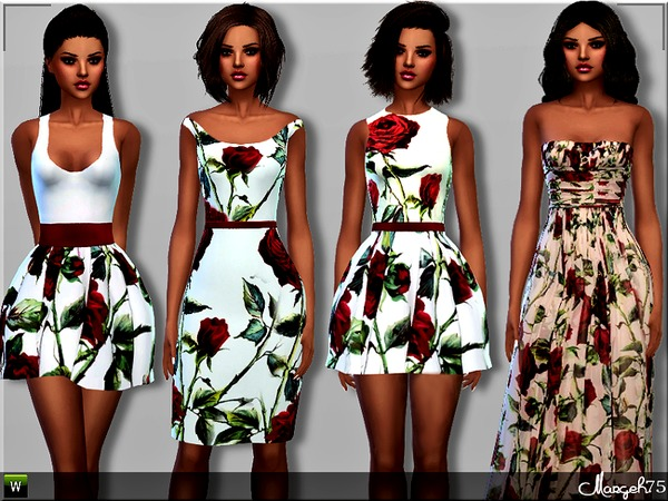 S4 Roses Dress Collection Set by Margeh-75