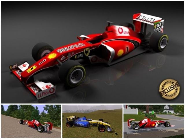 "F1 Racing Car ""Llamari 412"" by Stanislav"