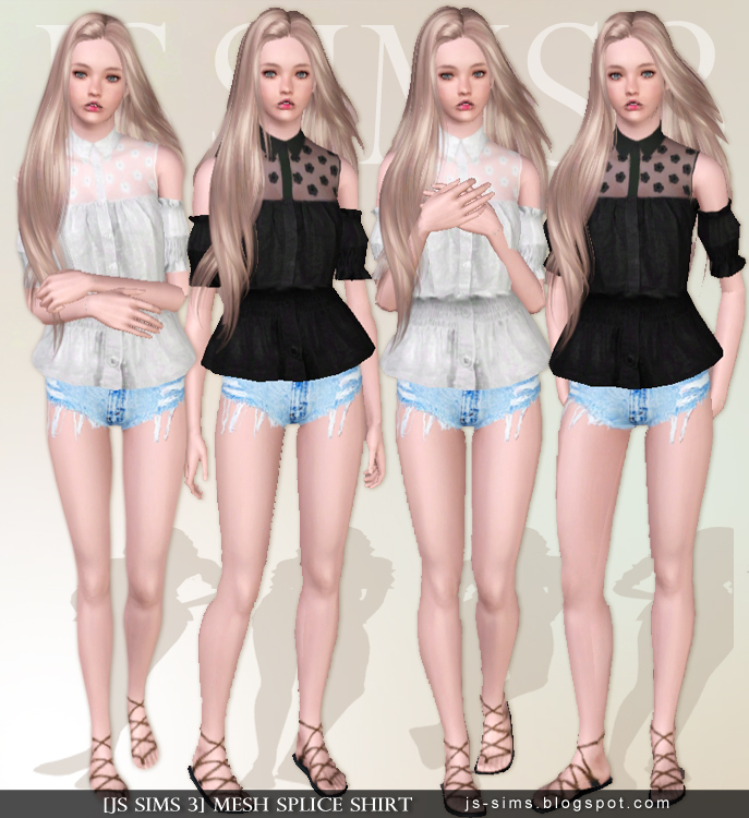 Mesh Splice Shirt by JS Sims