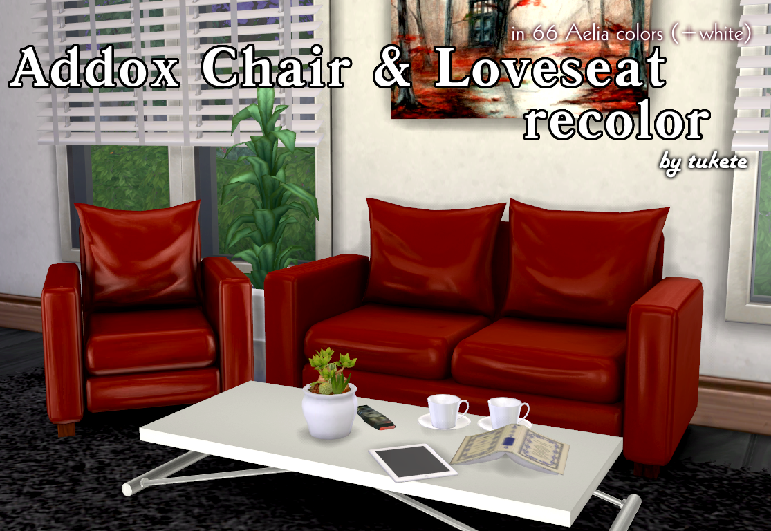 Addox Chair & Love Seat Recolors by Tukete