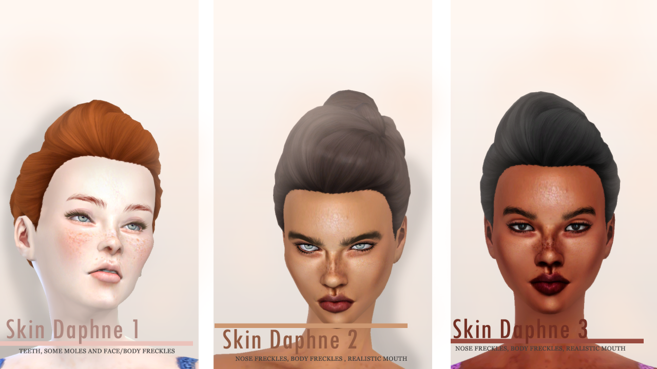 Daphne Skin for Females by Charactersassims