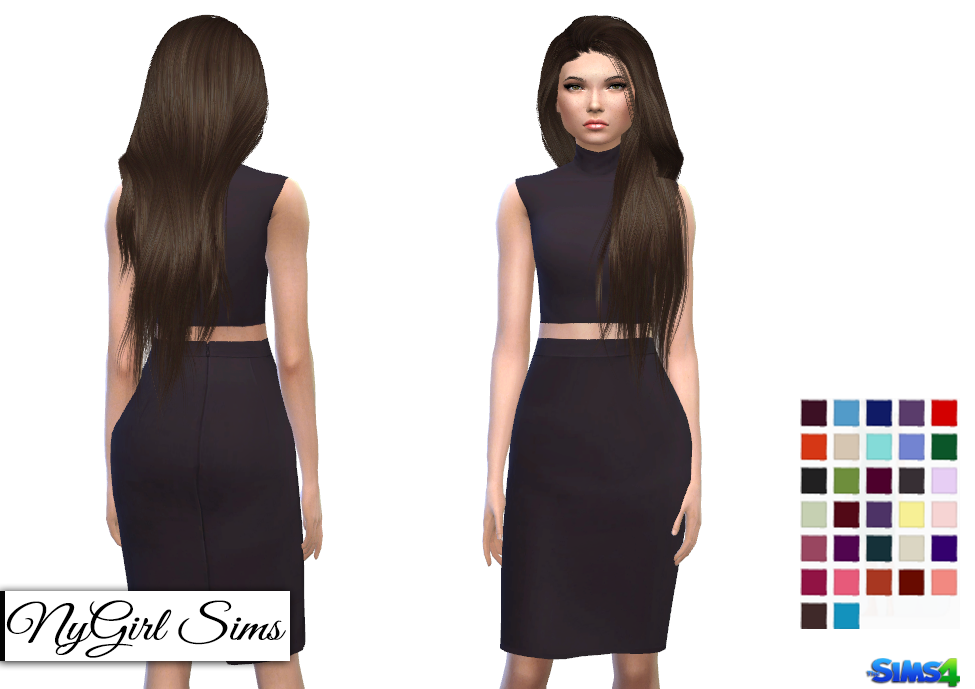 Turtleneck Bodycon Two Piece Dress by NyGirl