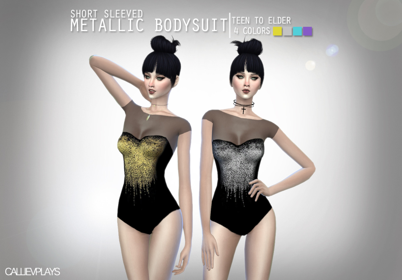 Metallic Bodysuit by CallieV