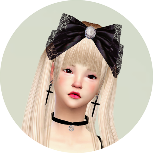 Big lace bow_head-band by Marigold