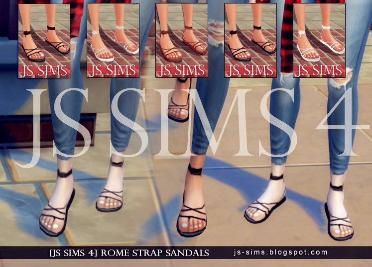 Rome Strap Sandals With Toes Nail by JS SIMS4