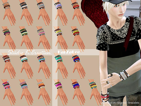 Layered Bracelets for Males & Females by Karzalee