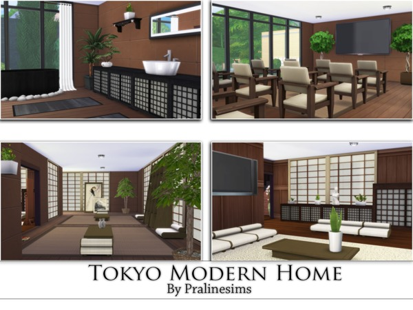 Tokyo Modern Home by Pralinesims