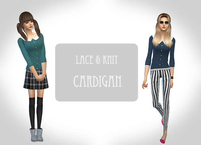 Lace & Knit Cardigan for Females by Chiissims