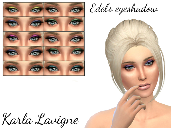 Edel's eyeshadow by Karla Lavigne