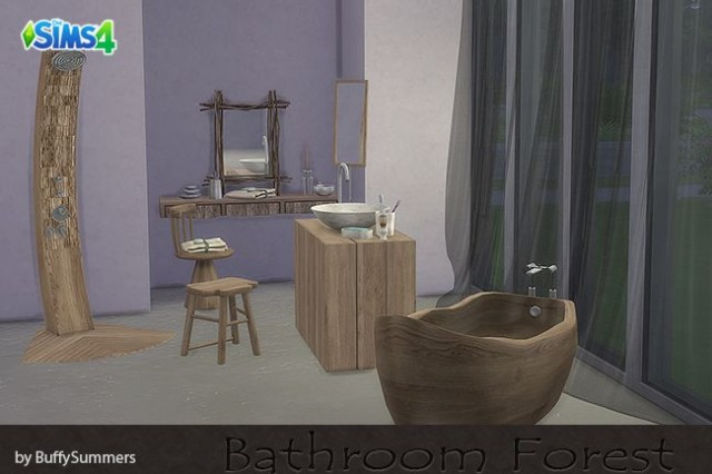 Bathroom Forest by BuffyASummers
