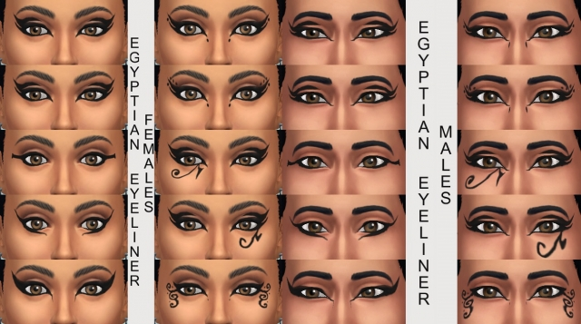 10 Egyptian Eyeliners in Black by Simmiller