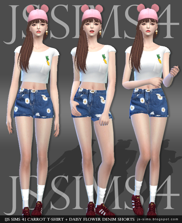 T-Shirt and Shorts by JS Sims 4