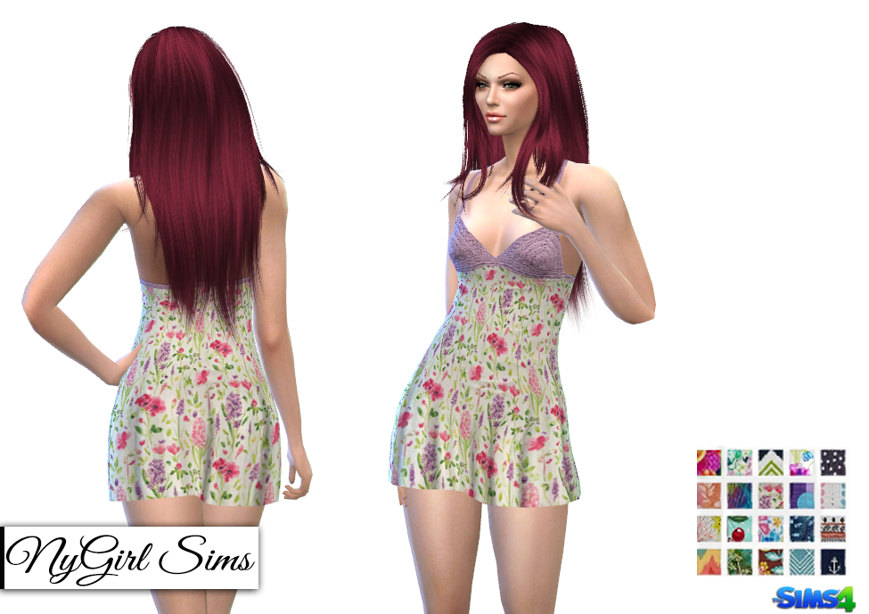Knit Top Summer Prints Dress by NyGirl